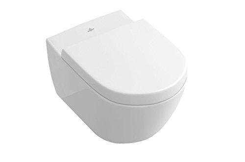 Villeroy & Boch Wand-WC Subway 2.0, Tiefspüler mit offenem Wasserrand und ceramicplus, 1 Stück, weiß alpin, 5614R0R1