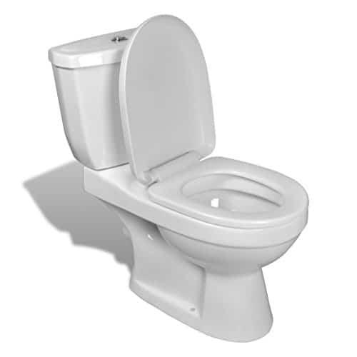 vidaXL DESIGN Stand Toilette/WC Bodenstehend Keramik Weiß