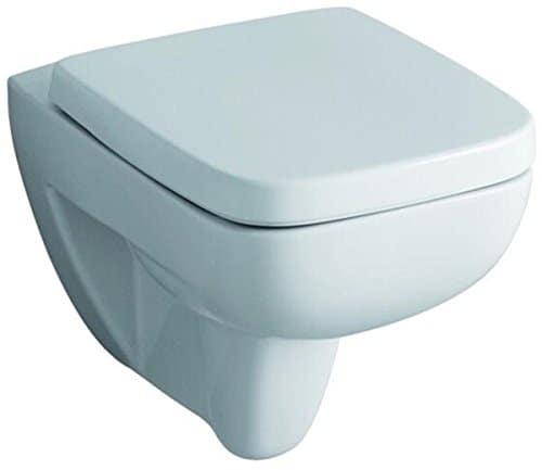 Keramag 572110000 WC-Sitz Renova Nr. 1 Plan, mit Deckel Scharniere: Edelstahl, weiß