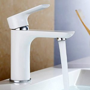 Dailyart® Weiß Design Bad & WC Waschtisch-Armatur Wasserhahn Waschtischarmaturen Badezimmerarmaturen