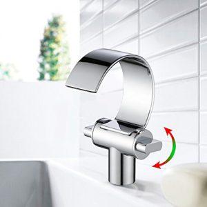 Auralum® Wasserhahn Waschbecken Einhandmischer Wassertisc Waschtischarmatur Armatur Chrom Küche Bad