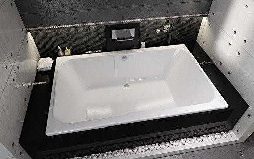 EXCLUSIVE LINE® Rechteckwanne Badewanne RIHO Sobek 180 x 115 cm BB28 + Füße + Ablauf Viega