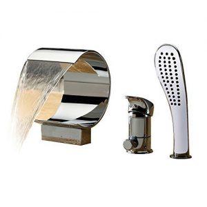 Sprinkle zeitgenössische Wasserfall Badewanne Wasserhahn mit Handbrause verchromt waschtischarmatur armaturen badewannenarmatur spültischarmatur wasserhahn bad waschtischarmaturen