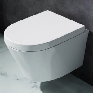 Design Toilette Aachen108, aus Keramik, mit SilentClose-Absenkautomatik, Wand-WC, Hänge-WC,