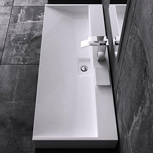 BTH: 80x46x11 cm Design Waschbecken Colossum19, aus Gussmarmor, Waschtisch, Waschplatz