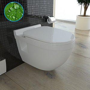 Weiss Wand Hänge WC / Keramik / Tiefspüler / Design WC-Sitz / inkl. Soft-Close Funktion / Bad / Toilette
