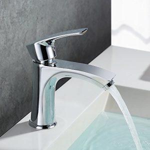 Homelody® Chrom Bad Waschbecken Wasserhahn Waschtisch armatur Einhebelmischer Badarmatur Mischbatterie Waschbeckenarmatur f.Badzimmer