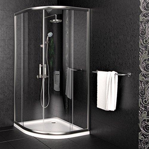 Duschkabine Duschtasse Duschabtrennung Duschwanne Dusche 90x90cm Viertelkreisdusche Premium