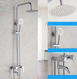 AMSS Wellness Duschsystem Regenbrause Handbrause Duschsystem Showerpipe Croma ?Rund