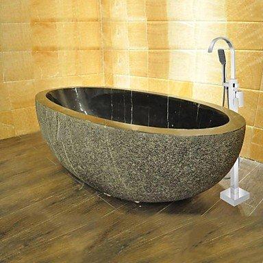 DF massivem Messing modernen bodenstehend Badewanne Dusche Wasserhahn mit Handbrause-verchromt