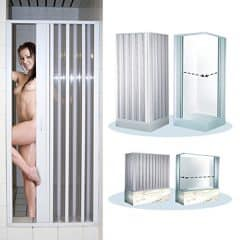 Eckduschwand Eck-Duschkabine ca. 80-95 x 80-95 x 182 cm Duschabtrennung Faltwand Duschtür Dusche
