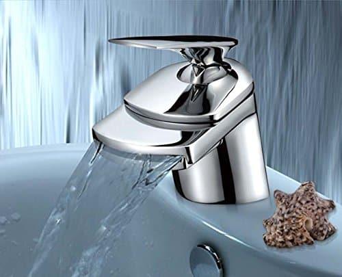 Design Armatur im Exklusiv Design   Einhandmischer   Bad Wasserfall Waschbecken