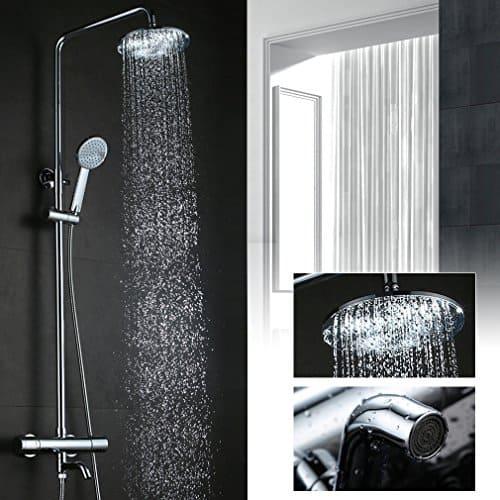 Kinse® 8 Zoll Duschstange Duschkopf Regendusche Regenduschkopf Duschsystem Regenbrause