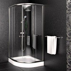 Duschkabine Duschtasse Duschabtrennung Duschwanne Dusche 90x90cm Viertelkreisdusche